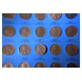 77 Lincoln Cents  1944-1974 in Book See Photo