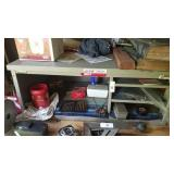 Metal storage unit measuring 33 by 14 by 22