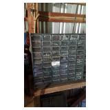 60 drawer parts bin left garage