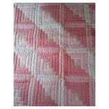 "42""×53"" pink machine quilted quilt"