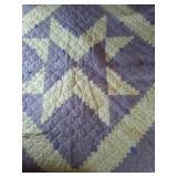 """90""""×90"""" purple machine quilted quilt"""