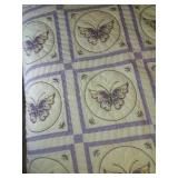 "112""×95"" cross stitched butterfly quilt .machine"