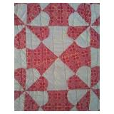 "84""×70"" hand pieced,hand quilted quilt"