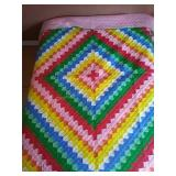 "76""×96"" pieced hand quilted quilt"
