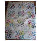"90""×72"" hand pieced hand quilted quilt."