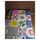 """96""""×79"""" pieced machine quilted quilt"""