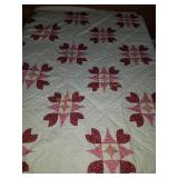 71 1/2 × 95 hand pieced, hand quilted