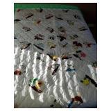 71 x 98 machine quilted state bird pattern