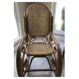 Double Cane Seat/Back Rocking Chair