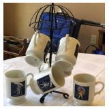Vintage Morton Salt Mugs & Holder
