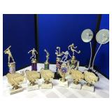 Collection of Trophies & Lamp