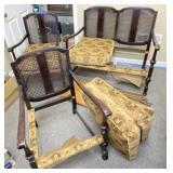 Antique Cane Back Upholstered Furniture