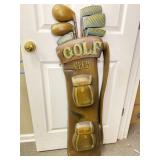 Wooden Golf Decoration from England