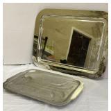 Aluminum and Godinger Silver Art Co. Trays
