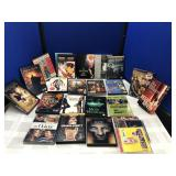 Collection of DVDs and CDs