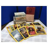 Collection of Nat Geo Magazines & Cigar Boxes