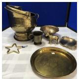 Brass Coal Scuttle & Brass Collection