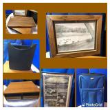 Vintage Furniture Dolly, Suitcase and more