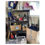 Utility Shelf with Items