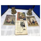 Antique St. Nicholas Magazines & Bookends