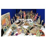 Large collection of Vintage Paper Doll