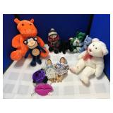 Collection of Stuffed Animals and dolls