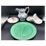 Fiesta Plate, Foxglove Spode, Pitcher & Plate