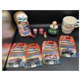 Matchbox Cars, Mugs & Doll