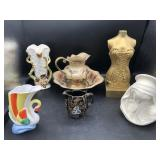 Lefton, Vases, Brass Pitcher & Bowl and more