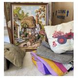 Beautiful Needle Print Wall Decoration & Linens