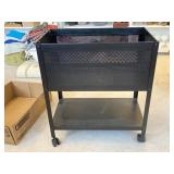 Metal Rolling Utility Container with Shelf