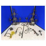 Metal Wall Decorations and Candle Holders