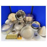 Aluminum, Silver Plate, Roasters and more