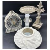 Candle Holder, Vintage clock, Bombay Decor & more