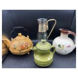 Collection of Teapots & Glass Carafe