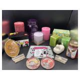 Vintage Coasters, Metal Recipe boxes, Candles