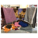 Collection of Throws, Scarves and Blankets
