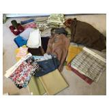Large assortment of fabric and vinyl