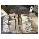 Shipping Crate w/ Coffee Burlap Sacks