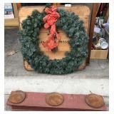 Unique Christmas Wreath w/Table Centerpiece