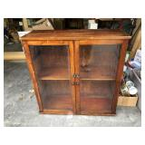 Wooden Cabinet with Glass Doors from England