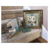 Art Deco Vanity Mirror, Wall Decor and Jars