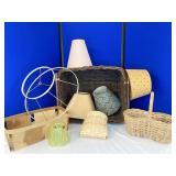 Baskets and Lamp Shades