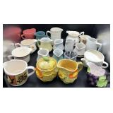 Large collection of Creamer & Sugar Bowls