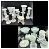 Collection of Milk Glass, Porcelain & more