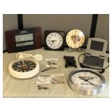 Collection of Battery Operated Clocks & more