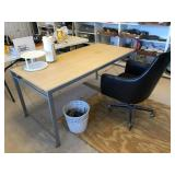 Desk, Chair, Waste Basket and more