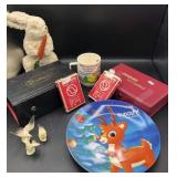 Dominos, Cards, Vintage Rudolph Collector Plate