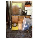2 Door Cabinet, Workbench & Garage Items