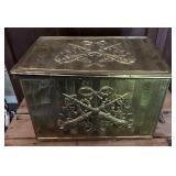 Wooden Magazine Rack & Brass/Wooden Box